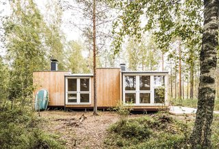 Students Build a Tiny Prefab Cabin in the Woods For Less Than $14K