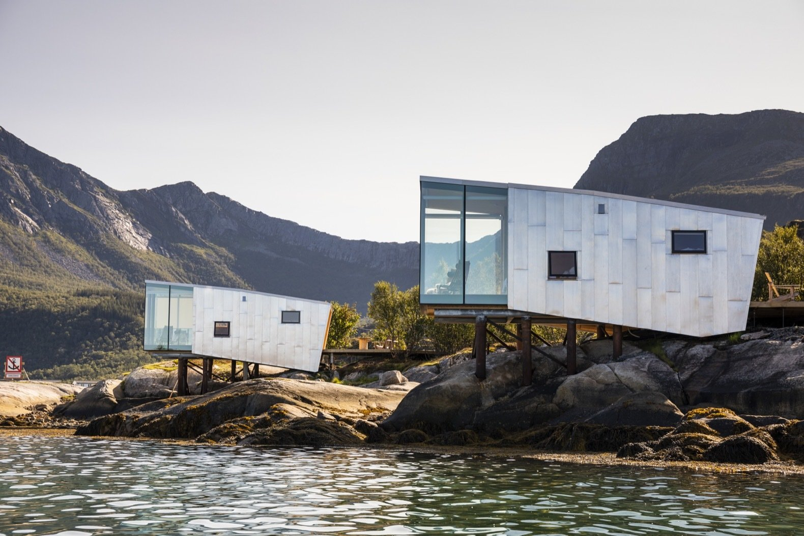 These Norwegian Sea Cabins Founded by a Polar Explorer Open Up to the Northern Lights