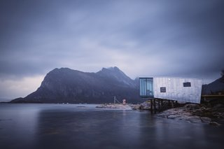 Located in the protected Steigen Archipelago off the coast of Northern Norway, the remote resort on Manshausen Island is surrounded by a harsh, yet beautiful, environment. All waste is treated on the island, which aims to be completely self-sufficient and off-grid in a few years.