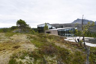 Located on Halvardøy Island, Efjord Cabin is a year-round retreat for the couple.
