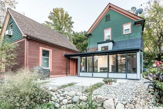 Budget Breakdown: A Laser-Cut Steel Addition Sharpens Up a Michigan Home For $85K