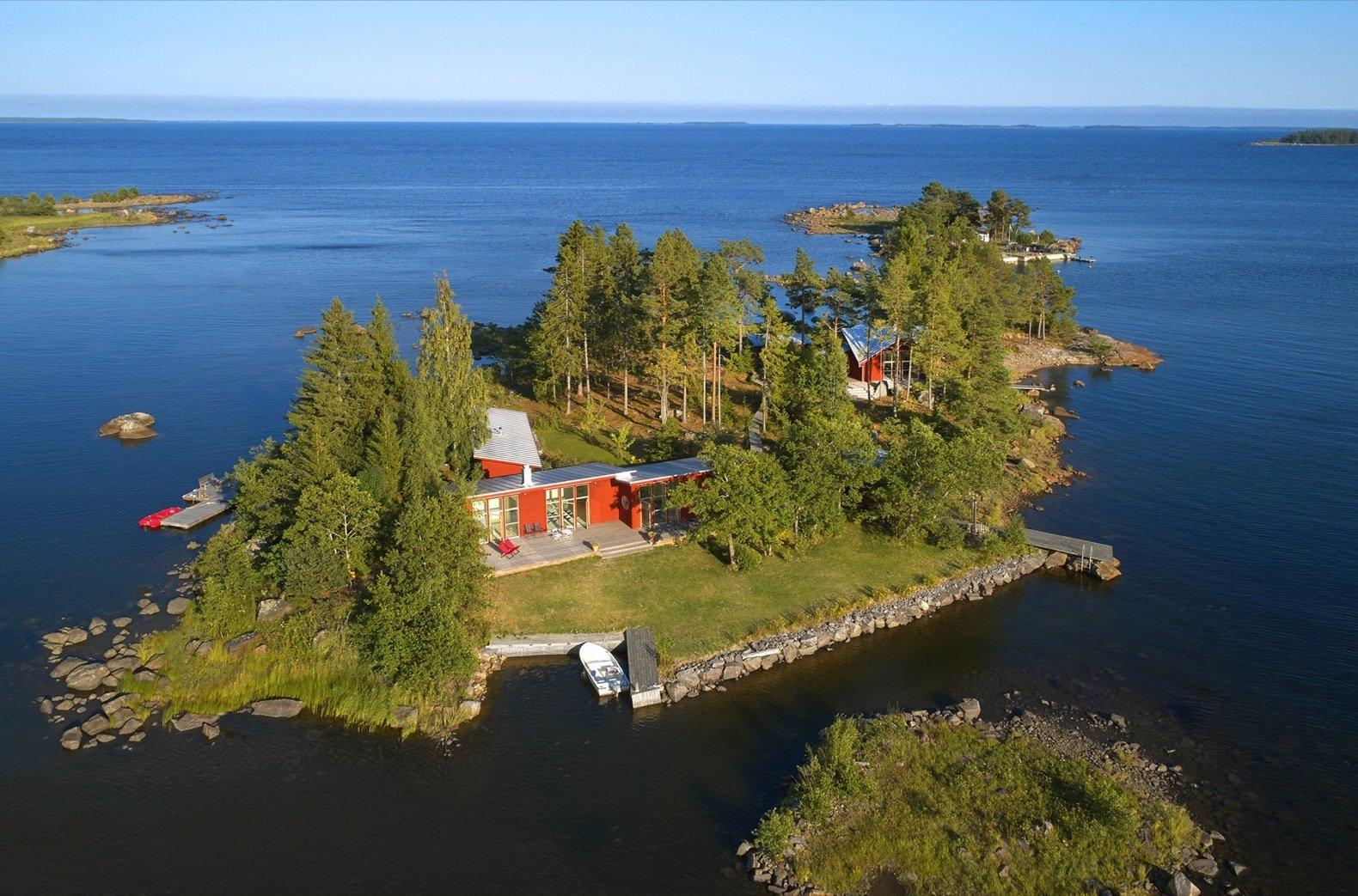 Gåsharsskäret island aerial view