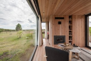 Like the main house, both guest homes are lined with timber inside and out.
