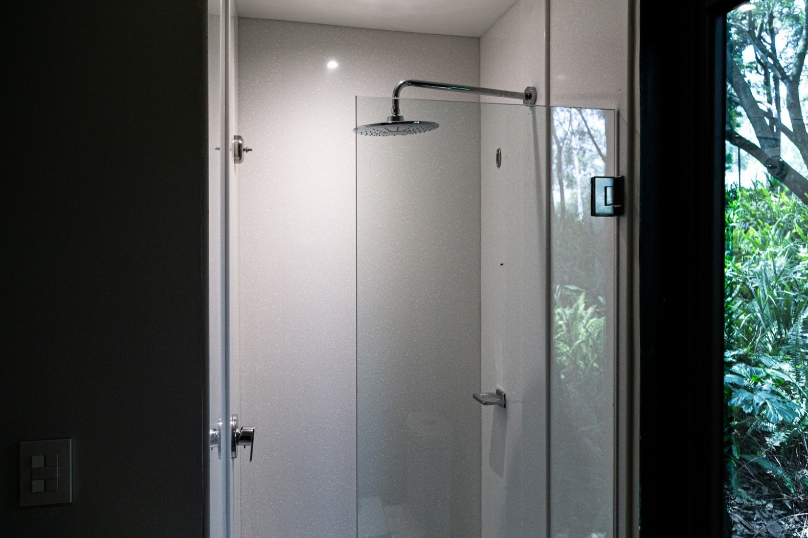 VMD shipping container home shower