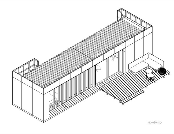 The one-bedroom VMD unit uses a single repurposed shipping container. The two- and three-bedroom units are built with two repurposed shipping containers.