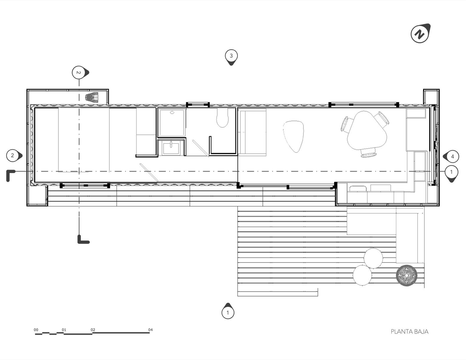 VMD shipping container home floor plan
