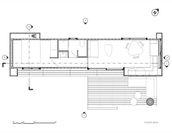 One-bedroom unit floor plan.