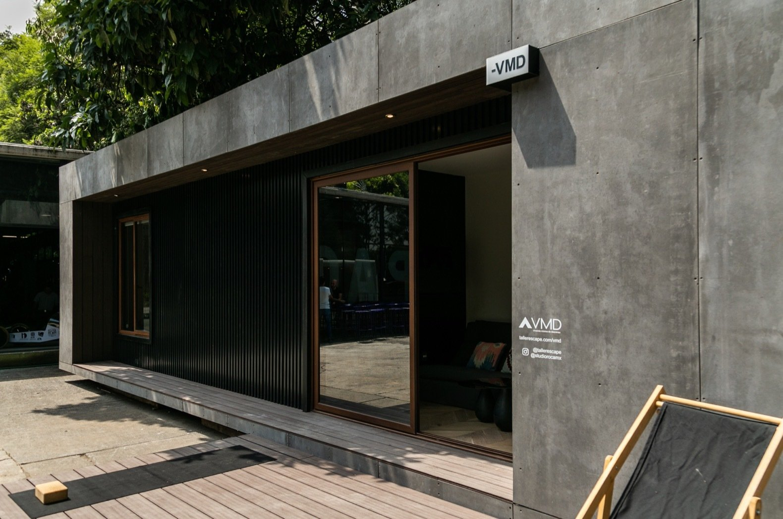 VMD shipping container home exterior