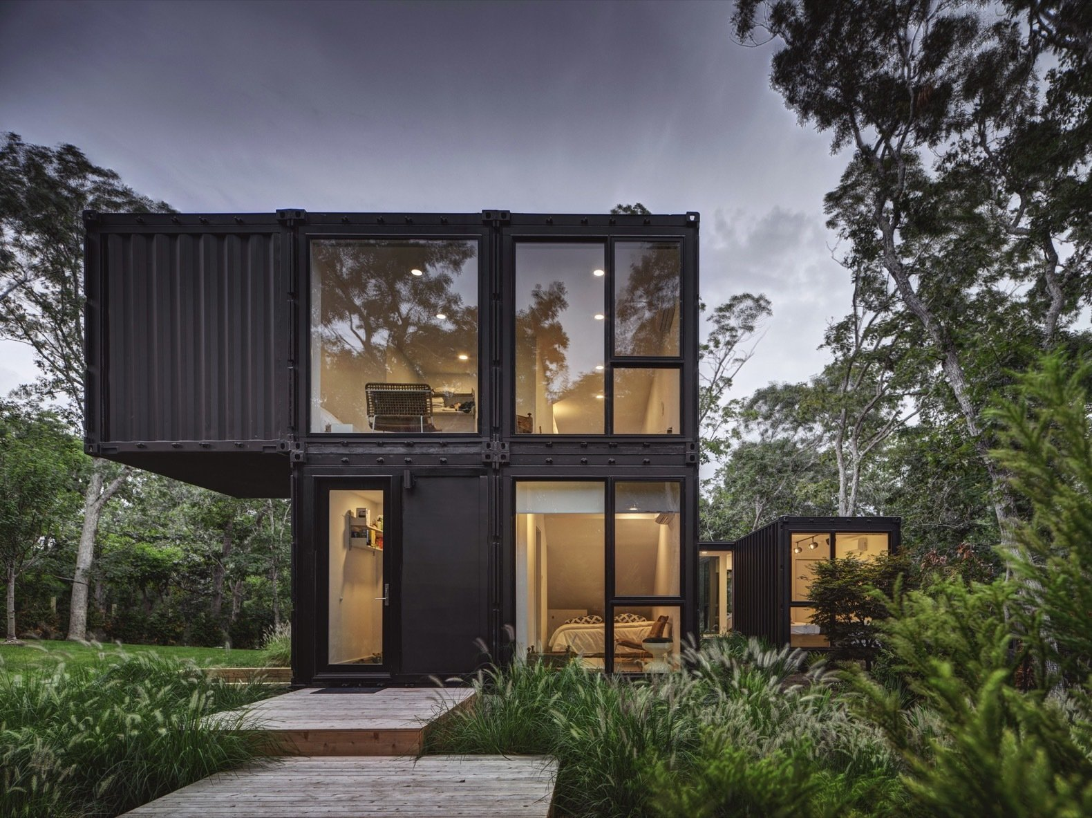 Amagansett Modular House by MB Architecture exterior