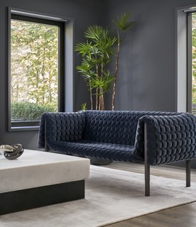 Reigo & Bauer's love of highly textured fabrics is evident in their selection of diverse furnishings.