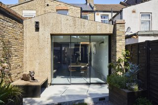 Richard is particularly proud of the cork used on the rear of the home, which he says works beautifully with the London stock brickwork. The sustainable material also inspired the project's name: A Cork House.