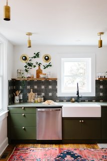 Chris and Claudia kept the original layout of the kitchen but replaced everything else with new finishes and fixtures.