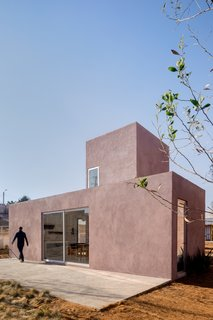 Located on a nine-acre site in Apan, Mexico, PPAA's modular home is one of 32 low-income housing prototypes that are being studied for potential reproduction on a larger scale. The prototypes were built in 2019, and they are open to the public—along with an adjacent welcome and education center by MOS Architects.