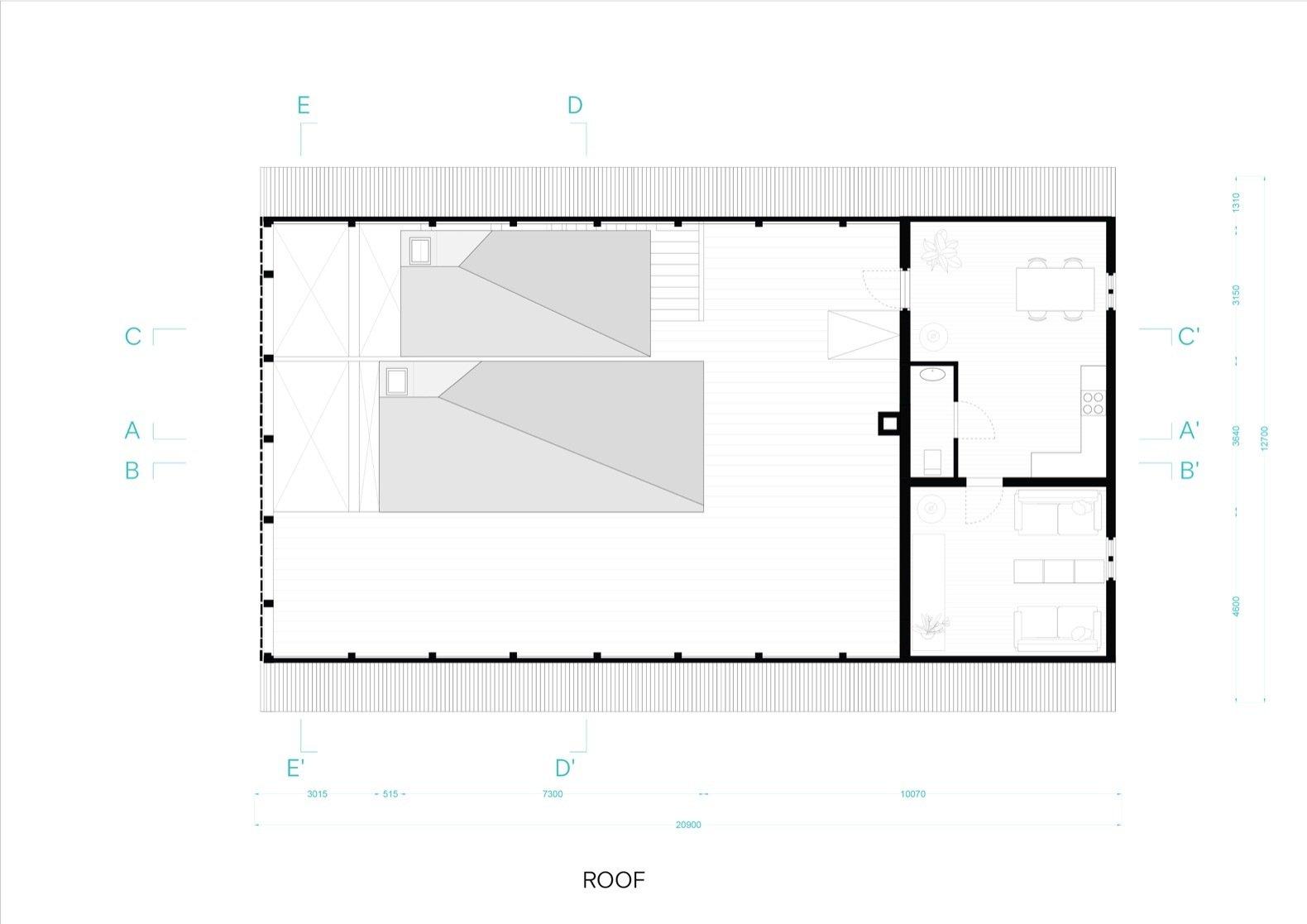 Dortmannhof upper-floor plan