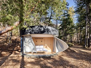 This Minimalist, Circular Prefab Takes Glamping to the Next Level