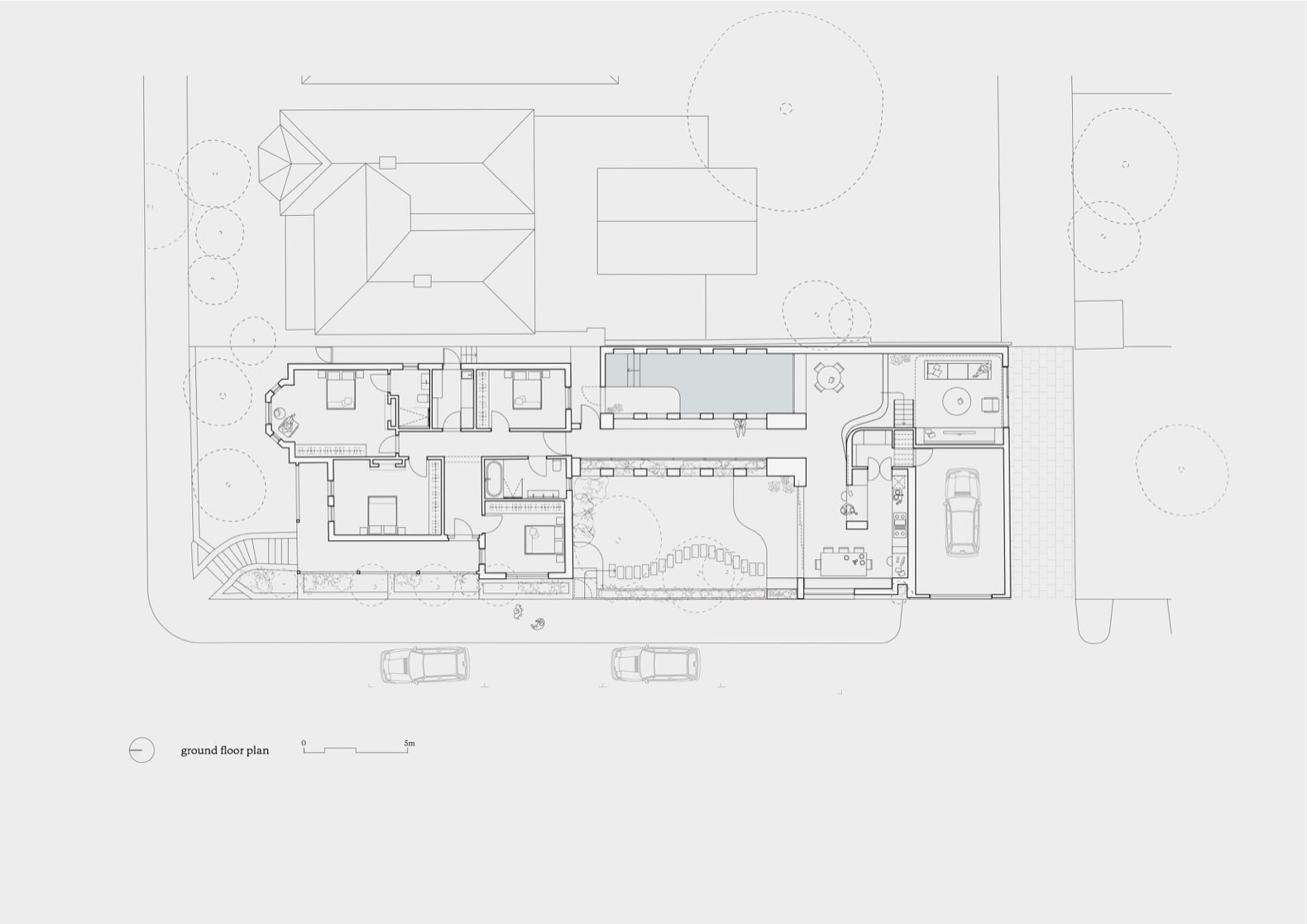 """Ruckers Hill House ground floor plan  Photo 23 of 26 in Exquisite Craftsmanship Breathes New Life Into a """"Socially Sustainable"""" Home"""