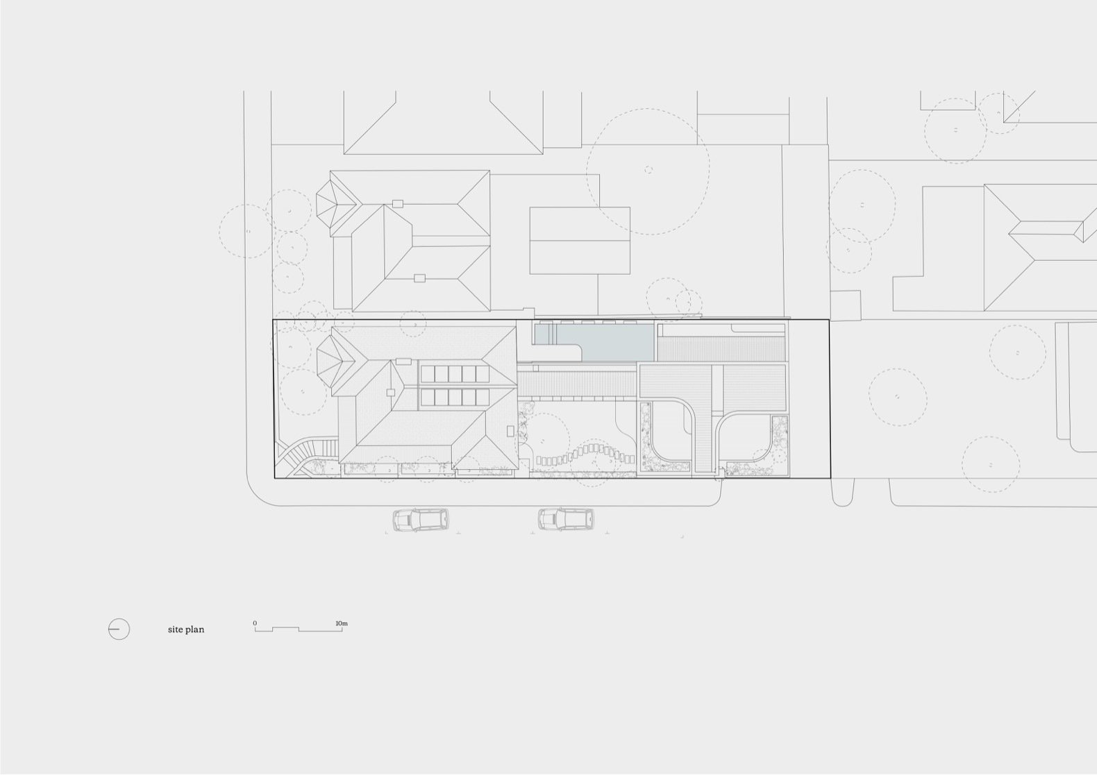 """Ruckers Hill House site plan  Photo 22 of 26 in Exquisite Craftsmanship Breathes New Life Into a """"Socially Sustainable"""" Home"""