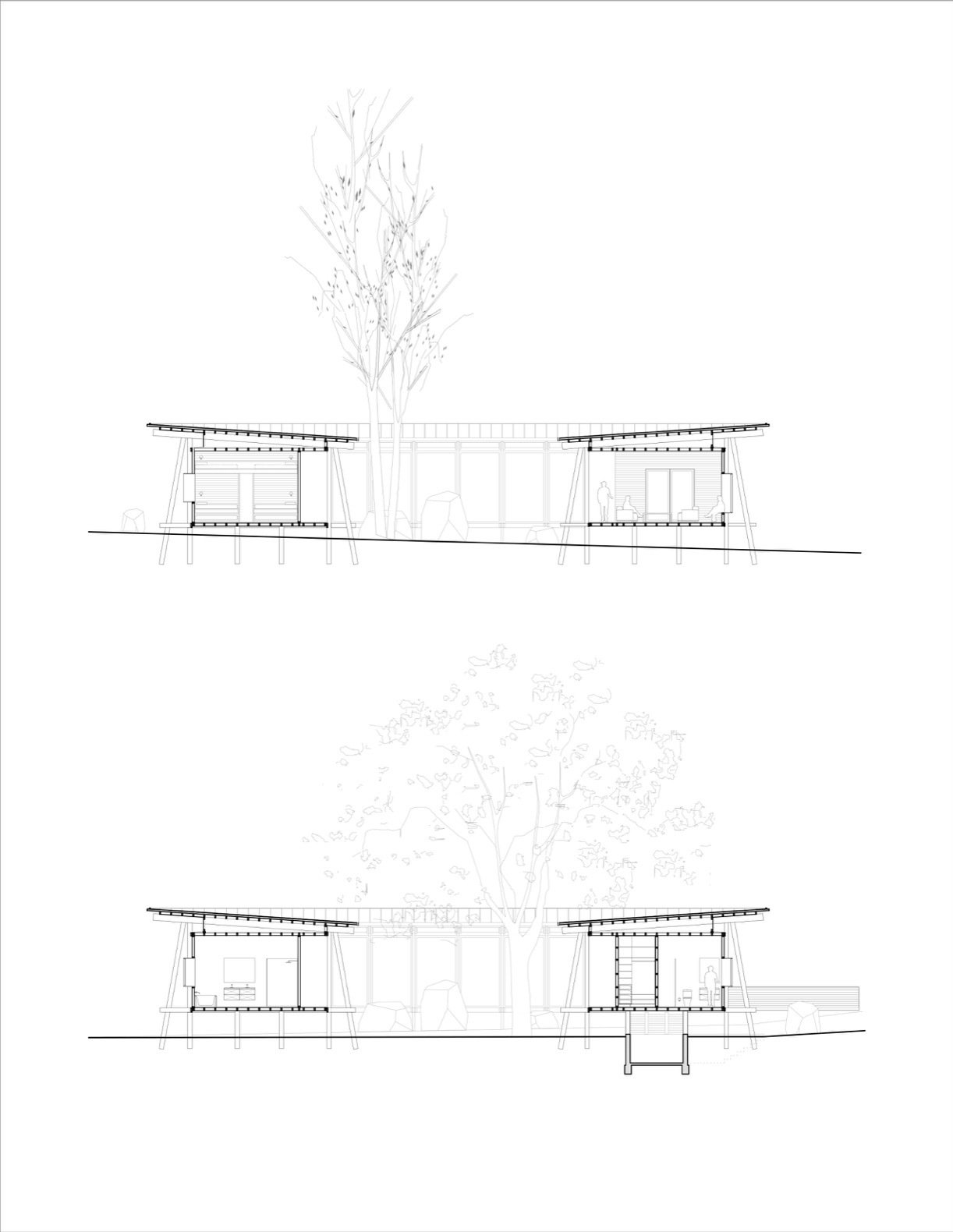 Patio House in Lago Ranco section