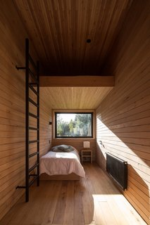 Inside, the ceilings, walls, and floors are all built from mañío wood.