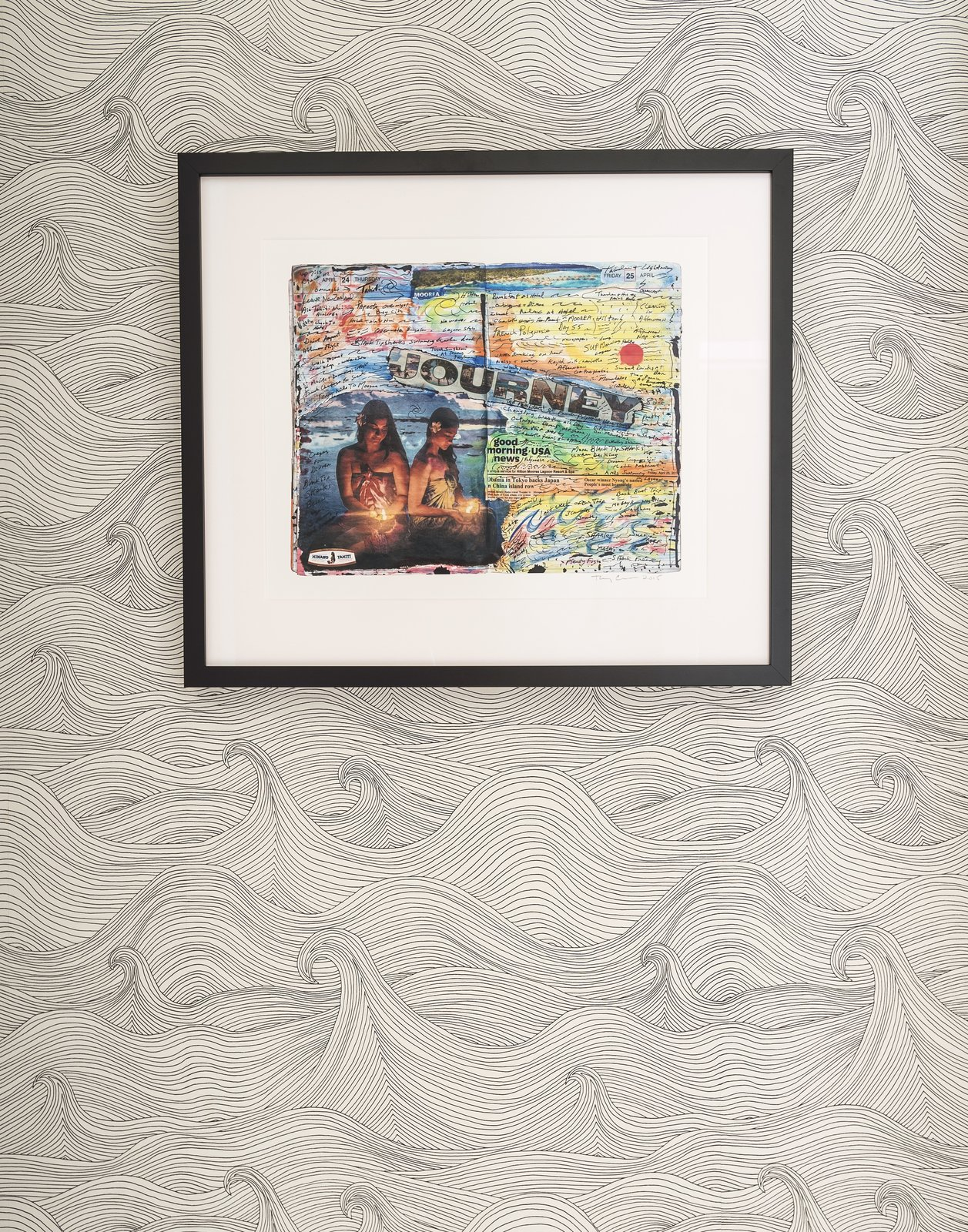 Montauk Surf Shack wallpaper