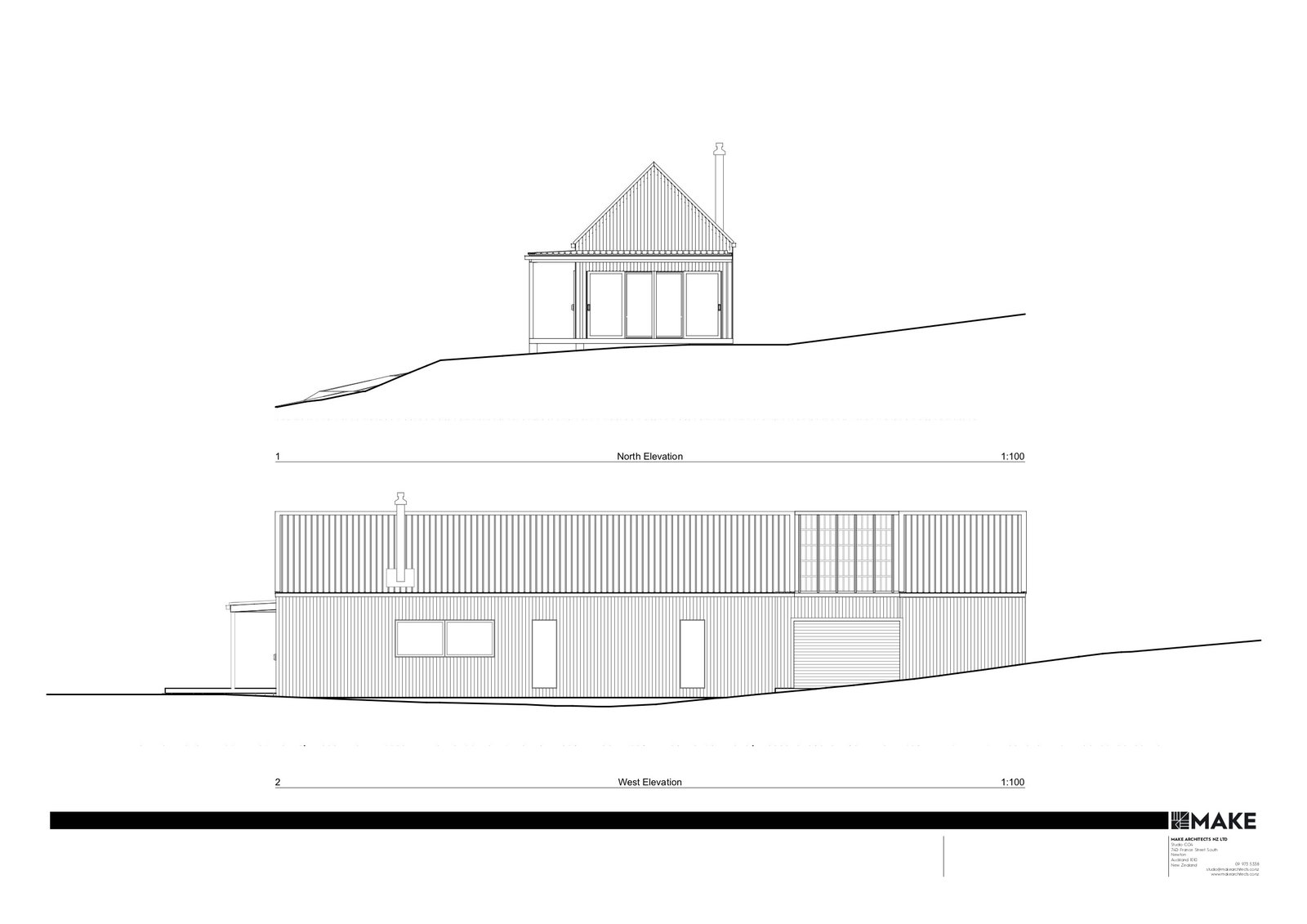 Karangahake House elevations