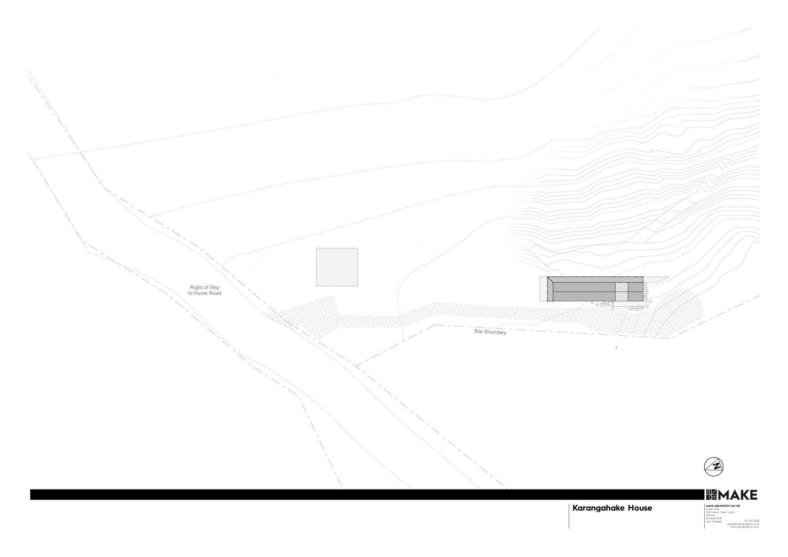Karangahake House site plan