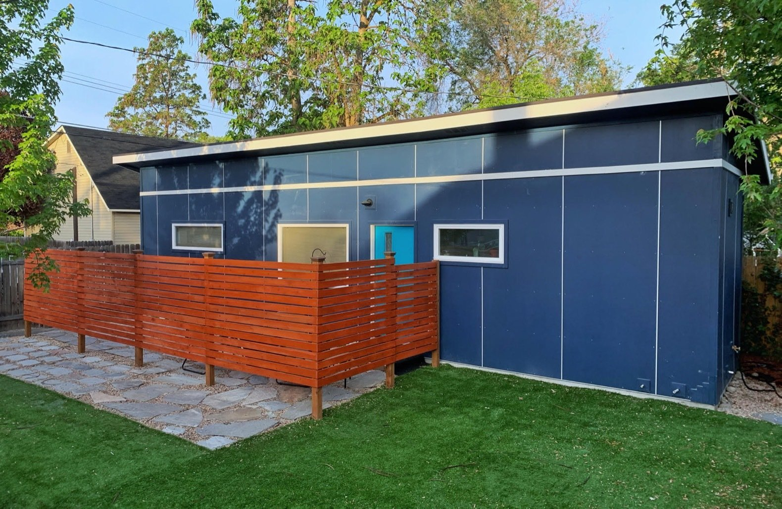 indieDwell's shipping container home exterior