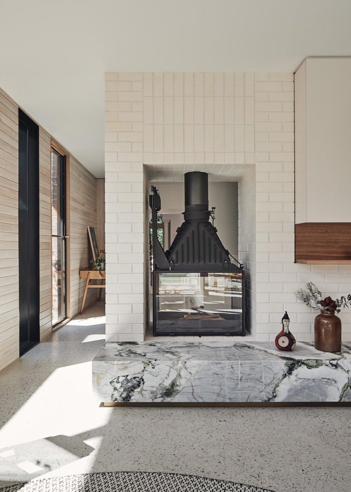 Lantern House fireplace