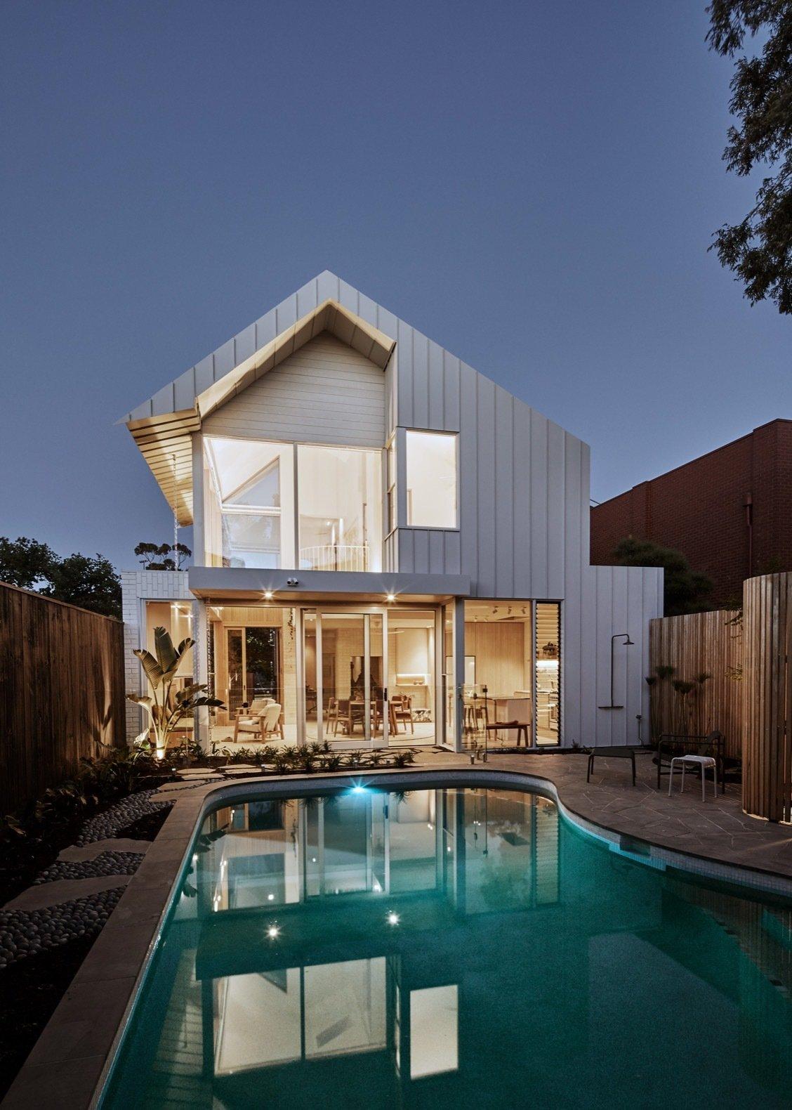 Lantern House backyard