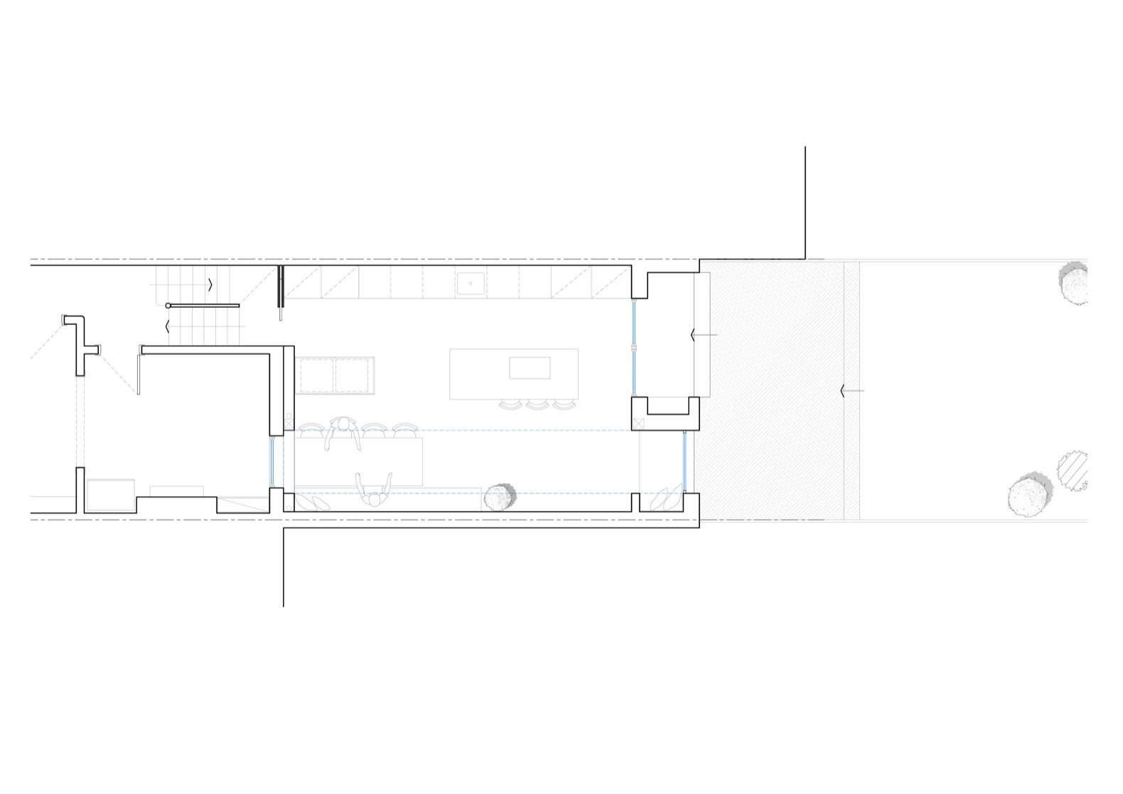 Glyn House floor plan  Photo 16 of 19 in A London Victorian Gets a Dreamy Addition Anchored by a Terrazzo Island