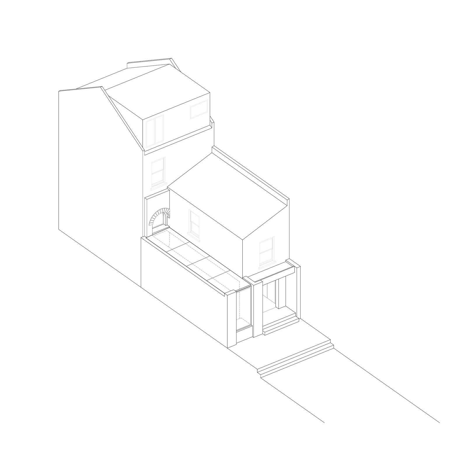 Glyn House isometric diagram  Photo 18 of 19 in A London Victorian Gets a Dreamy Addition Anchored by a Terrazzo Island