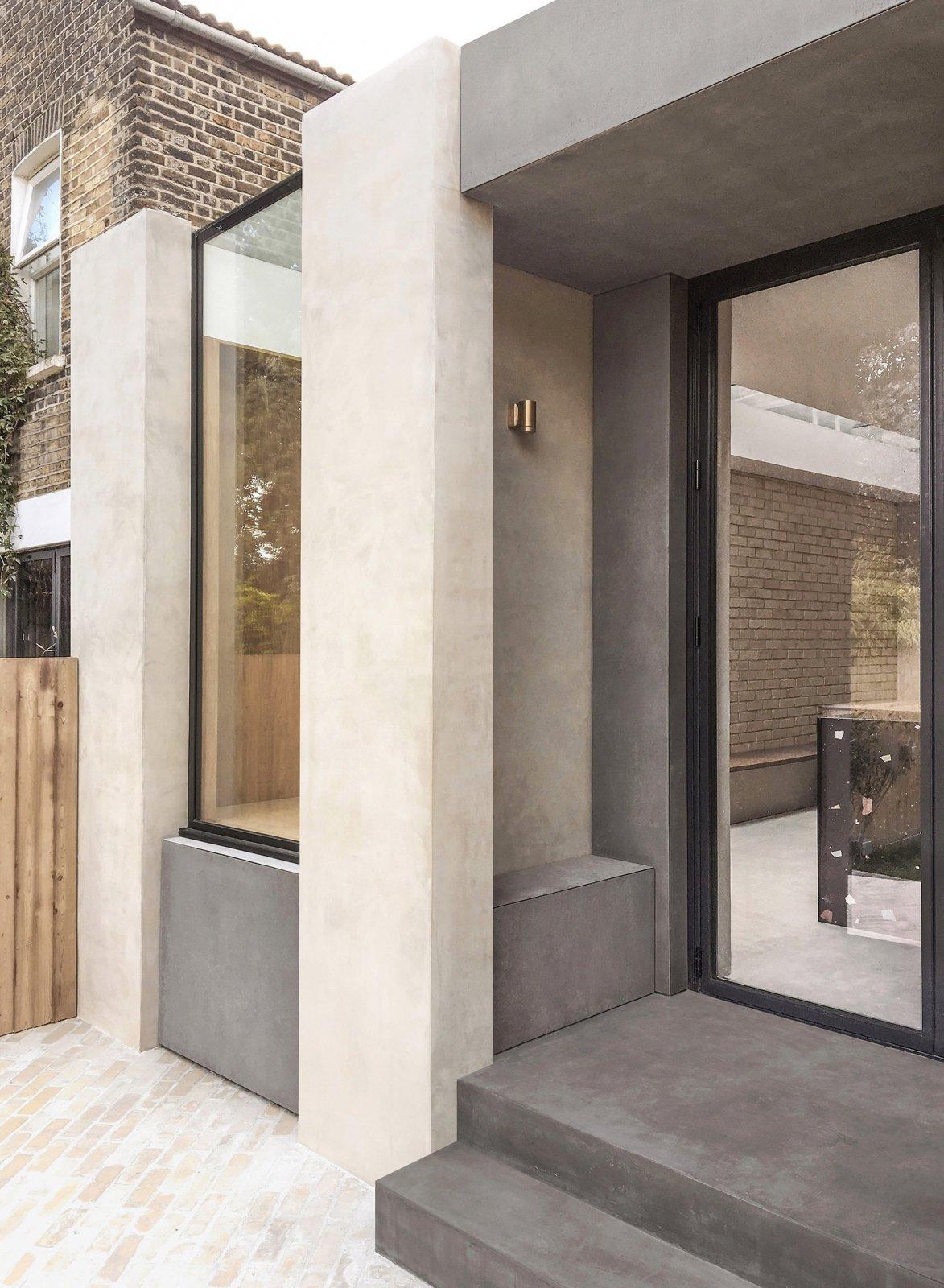 Glyn House by Yellow Cloud Studio rear entrance