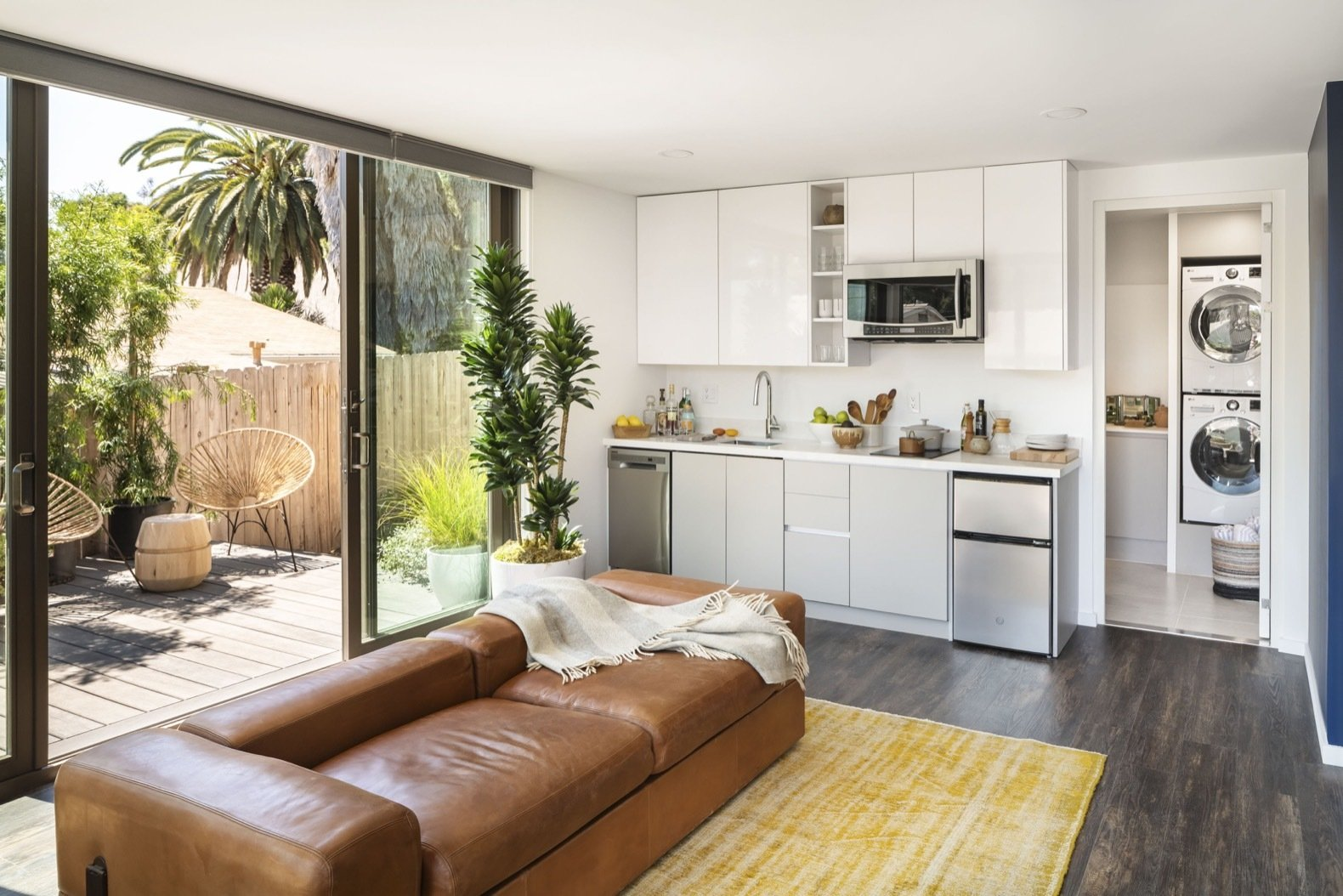 Mighty Buildings Duo B prefab home living area