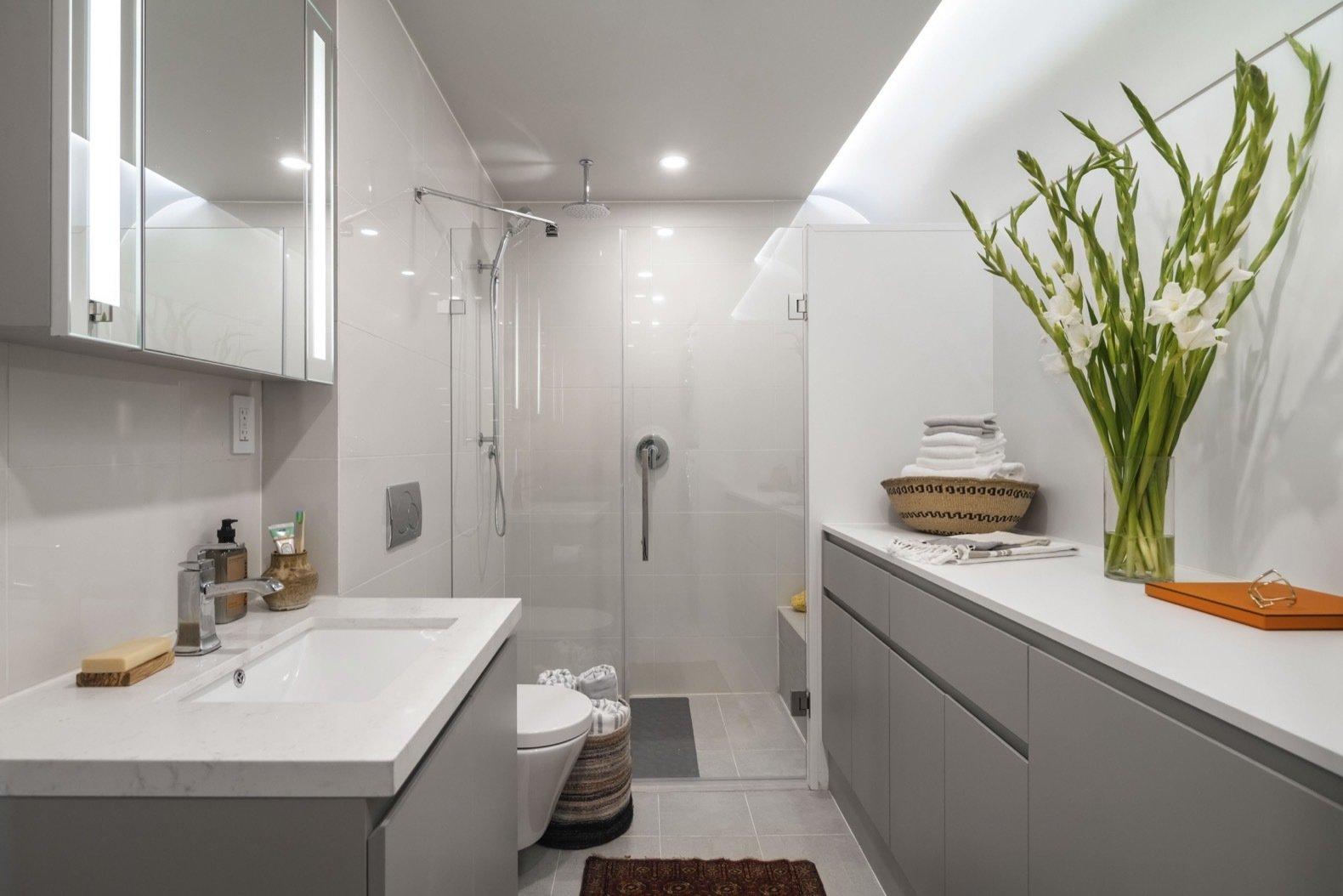 Mighty Buildings Duo B prefab home bathroom