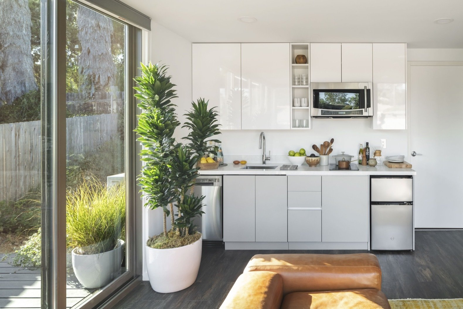 Mighty Buildings Duo B prefab home kitchen