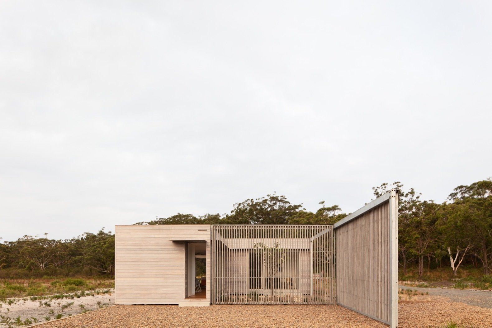Exterior of Courtyard House by CHROFI and FABPREFAB