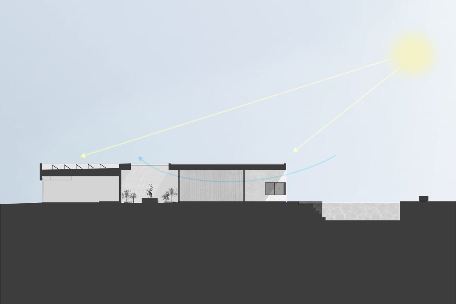 O-asis House section  Photo 27 of 27 in This Minimalist, Solar-Powered Home Is a True Desert Oasis