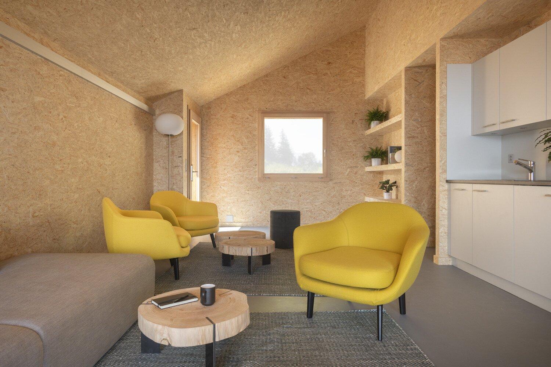 Whitepod Eco-Chalet living area