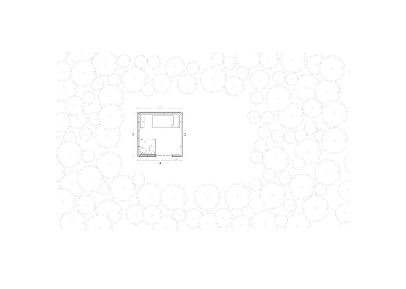 Refugio 3 x 3 upper floor plan