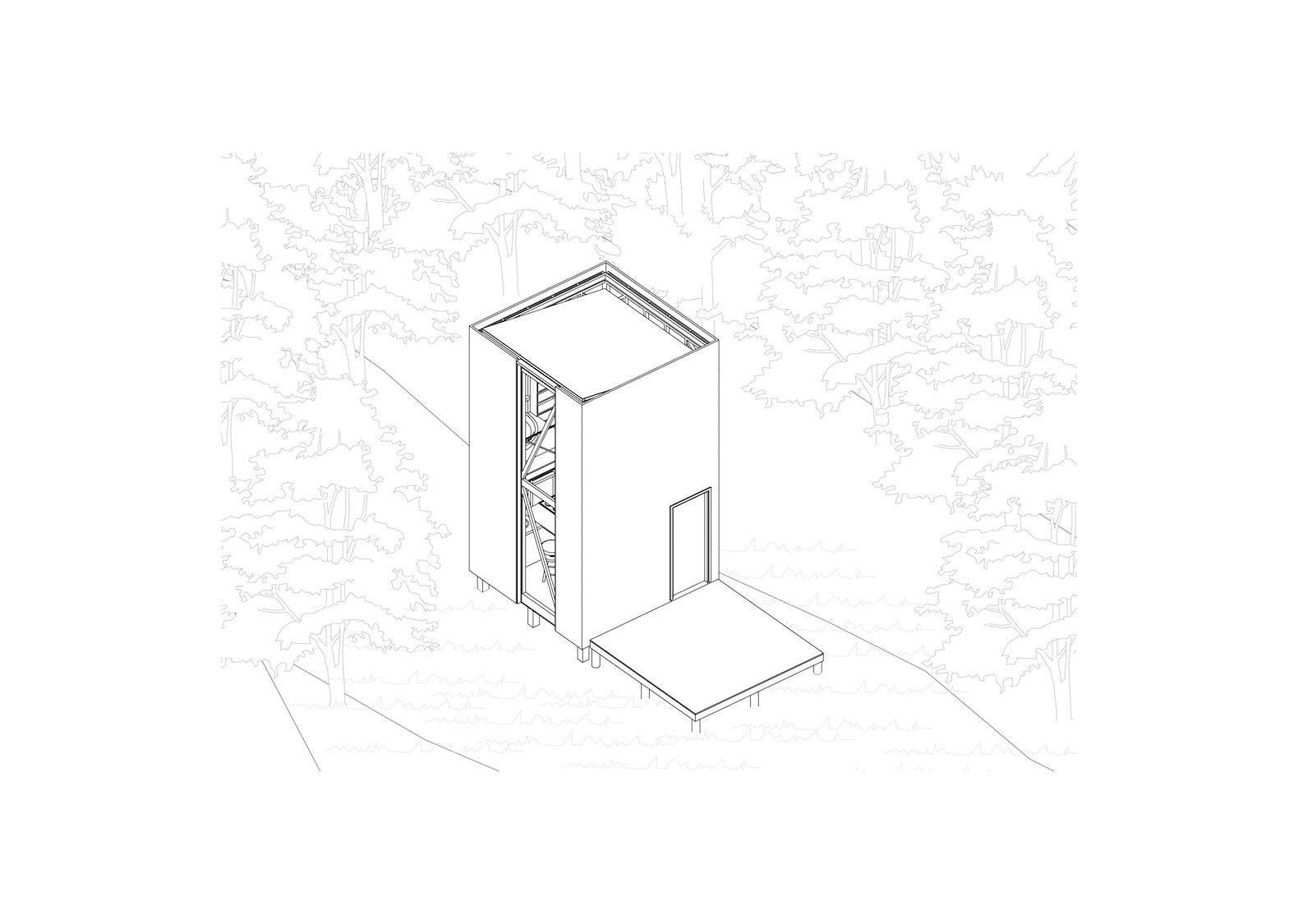 Refugio 3 x 3 isometric diagram