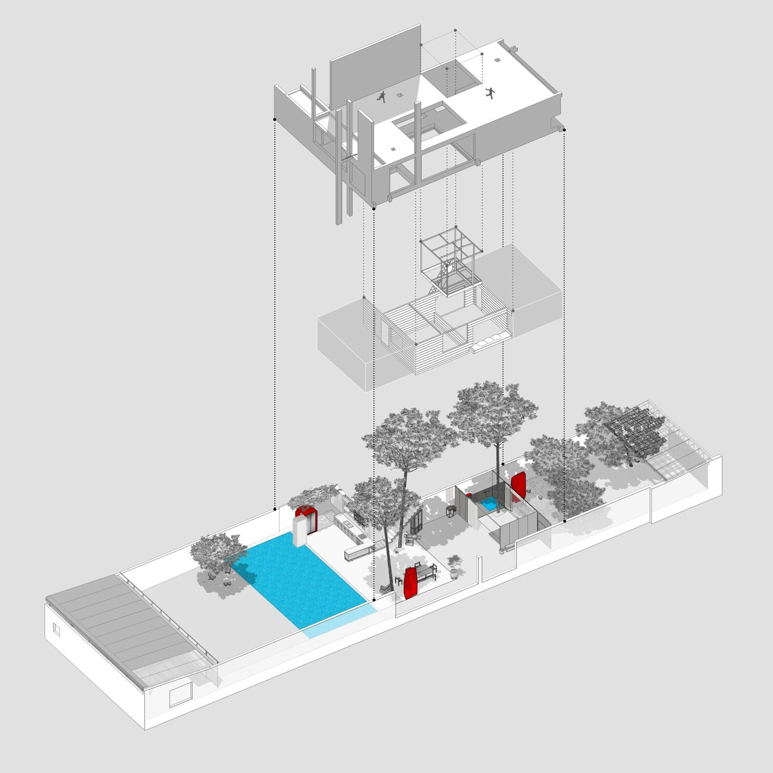 Da House axonometric drawing