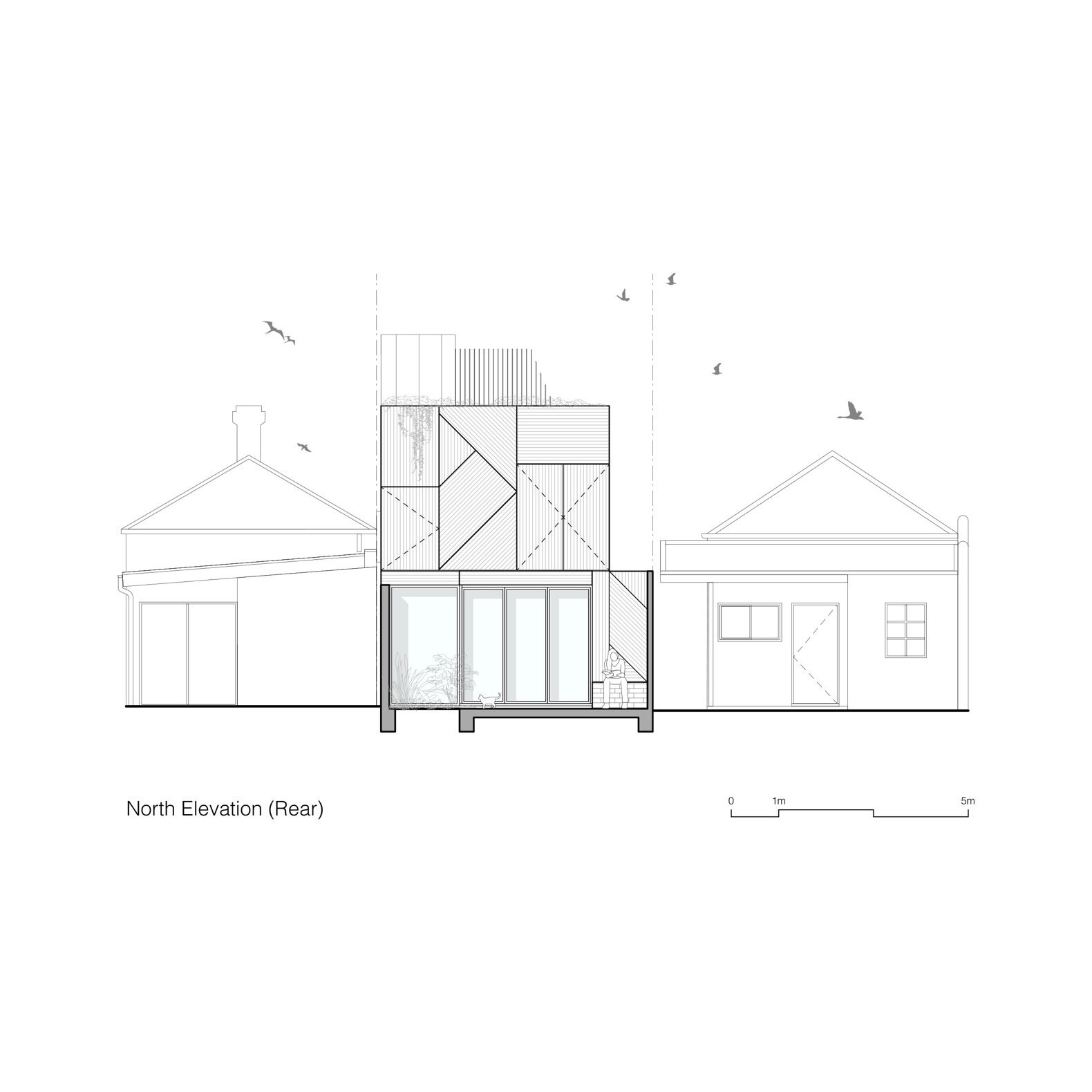"""Union House north elevation  Photo 26 of 27 in A Kids' Escape Route Puts the """"Fun"""" in Functional at This Reimagined Melbourne Cottage"""