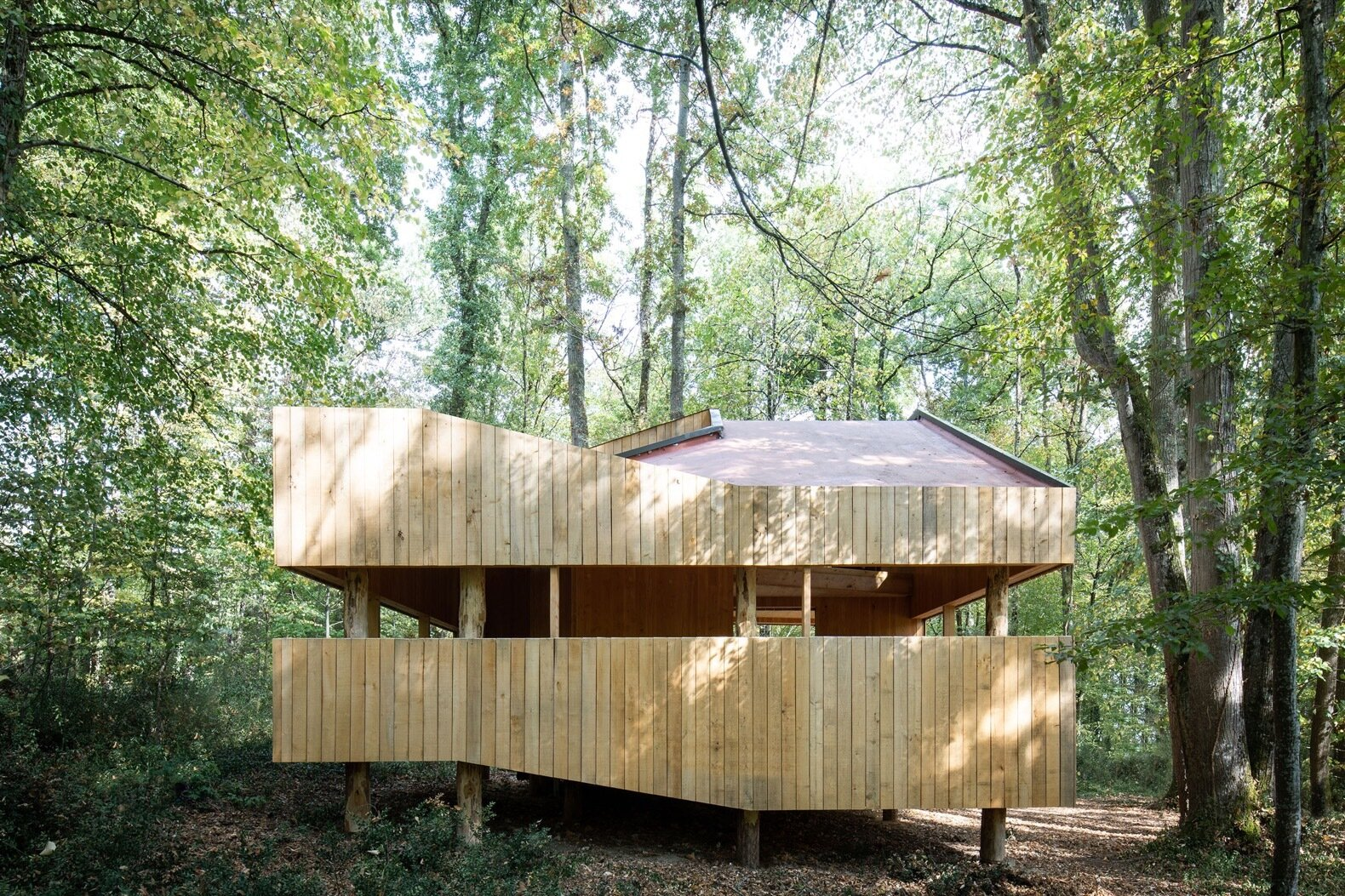 100% Wooden House exterior
