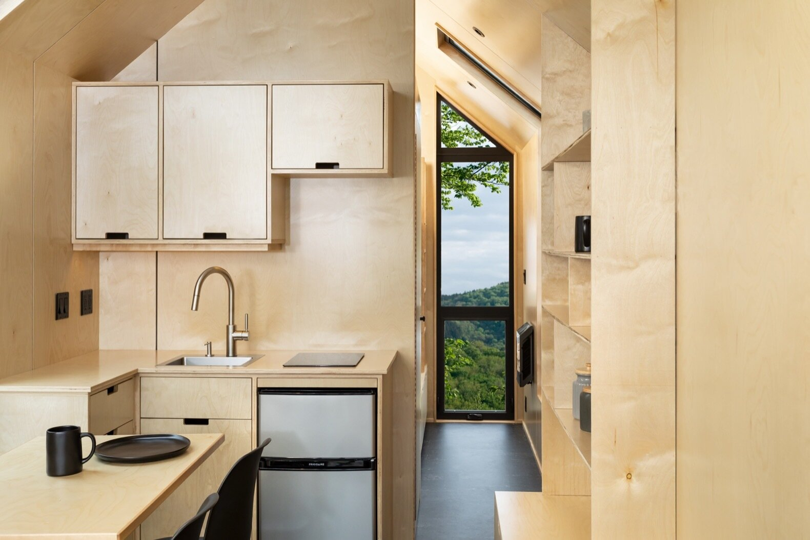 The DW by Modern Shed plywood kitchen