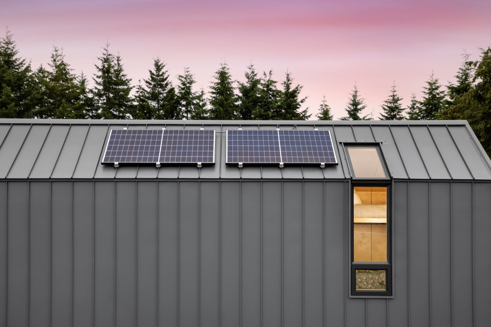 The DW by Modern Shed solar panels
