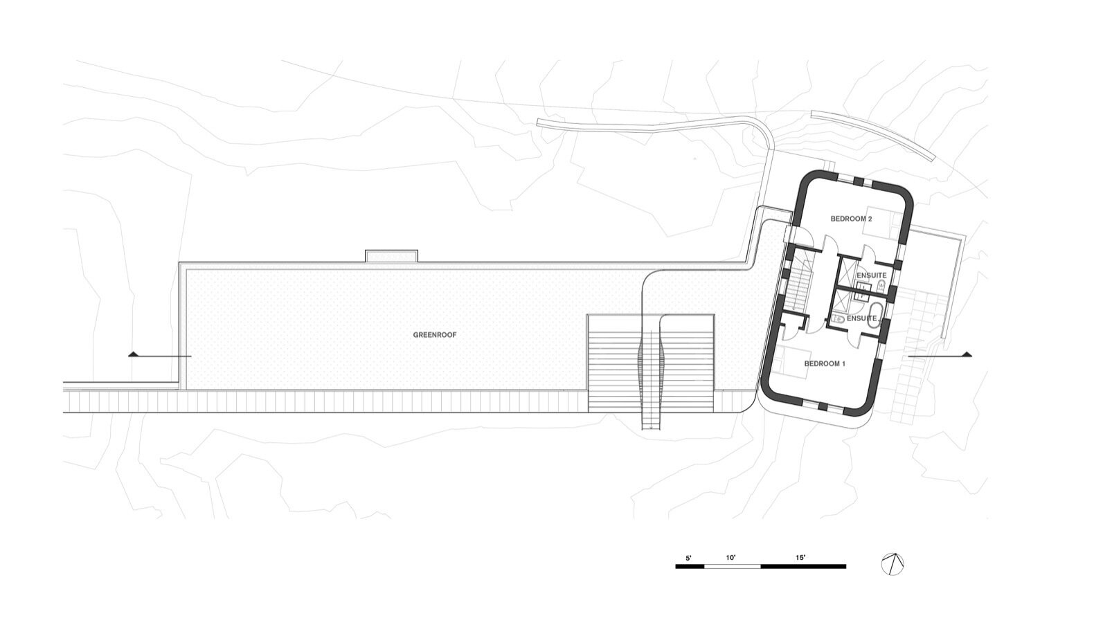 Fold House upper floor plan