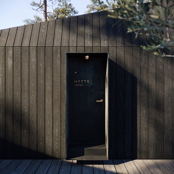 All interior and exterior finishes can be customized to suit different needs. The Hytte can also be co-branded to match a clients' existing aesthetic.