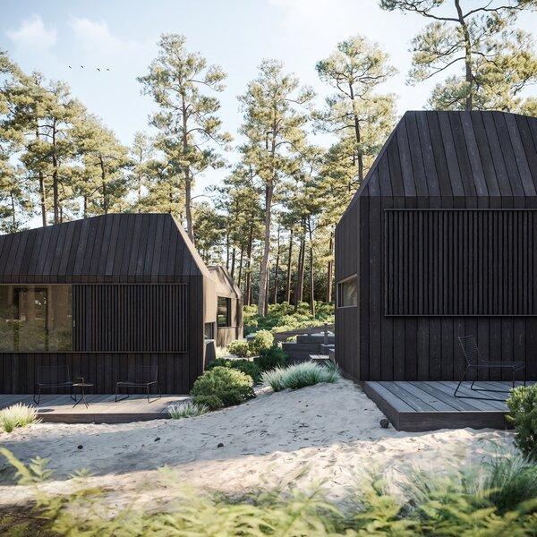 Wooden decks can be added to heighten the indoor-outdoor living experience.