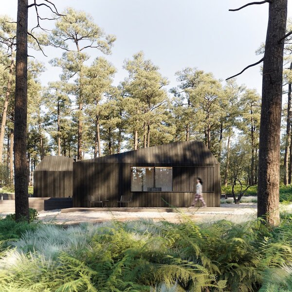 """""""Escapism for us is about exploration and immersion in nature,"""" says Little. """"We have designed beautiful buildings that sit in harmony within the natural environment and offer an interior sanctuary, a space that lends itself to quiet, contemplative reflection, a space to mindful of our wellbeing."""""""