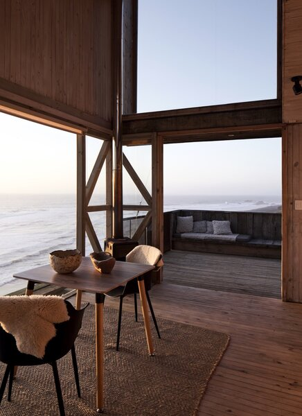 The cabins, which are available to rent on AirBnB, are outfitted with all the basic essentials needed for a private getaway.